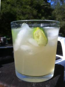 My Margarita...Don Julio Anejo Tequila, Triple Sec, Lime Juice, Agave Nectar, Ice