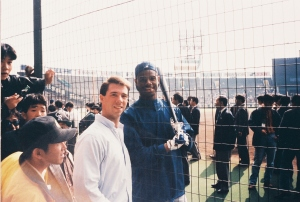 Tuesday, Nov. 3, 1992. Election Day in the U.S. And a freshly scrubbed me took the day off from work to meet Ken Griffey Jr. at Koshien Stadium near Osaka, Japan.