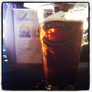 My first Castaway IPA, on tap, on Kauai, 2012.