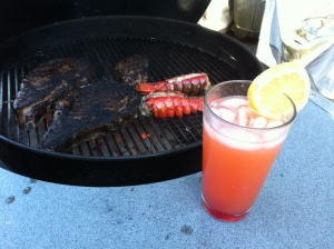 Surf, Turf and a Singapore Sling. Thank me.