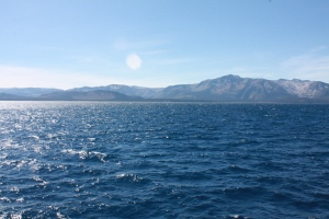 Lake Tahoe viewed from our boat.