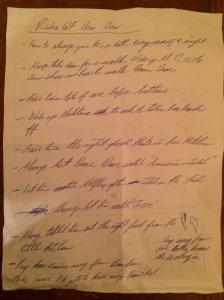 My transcription of Maddo's Bear Bear Rules looks like a ransom note.