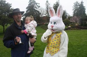 Who's more afraid? My daughter or the Easter Bunny?