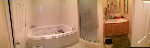 The bathroom. Where nakedness ensues.