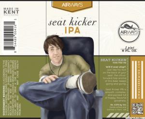 The label of Seat Kicker IPA