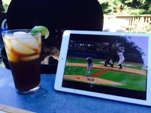 A King Felix in the glass, and King Felix on the mound.